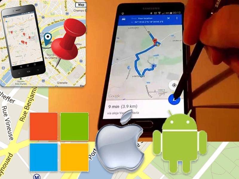 ثبت مکان در گوگلمپ موبایل و تبلت توسط اپلیکیشن